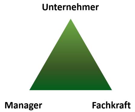 Abbildung 1: Die drei Persönlichkeitstypen: Fachkraft, Manager und Unternehmer